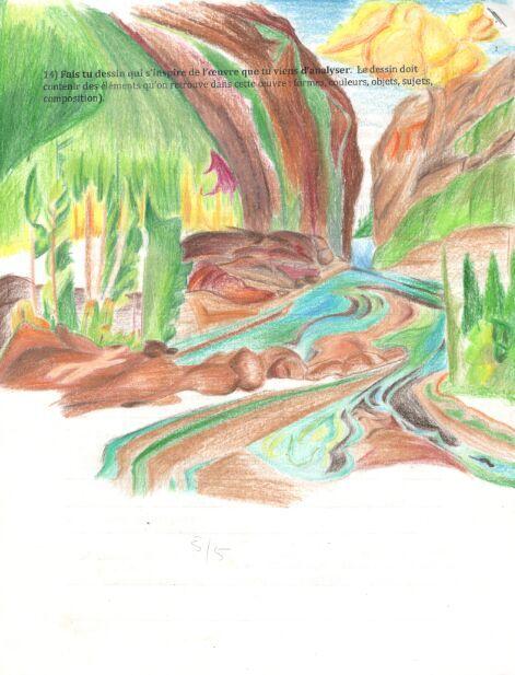 彩铅风景画