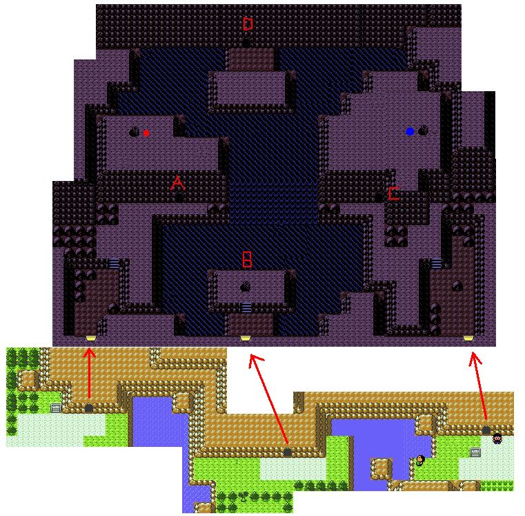 红黄金银复杂地点地图
